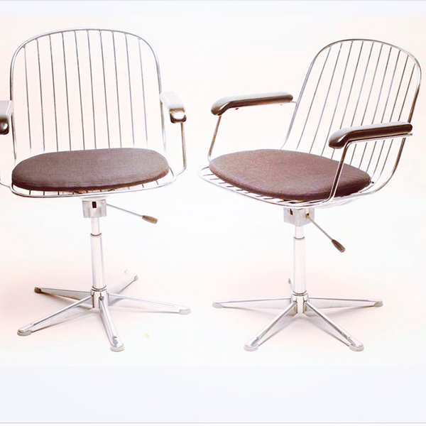 Wire Back Swivel Office Chair